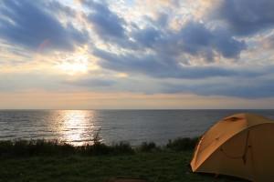 Zelten am Meer (Cape Breton)