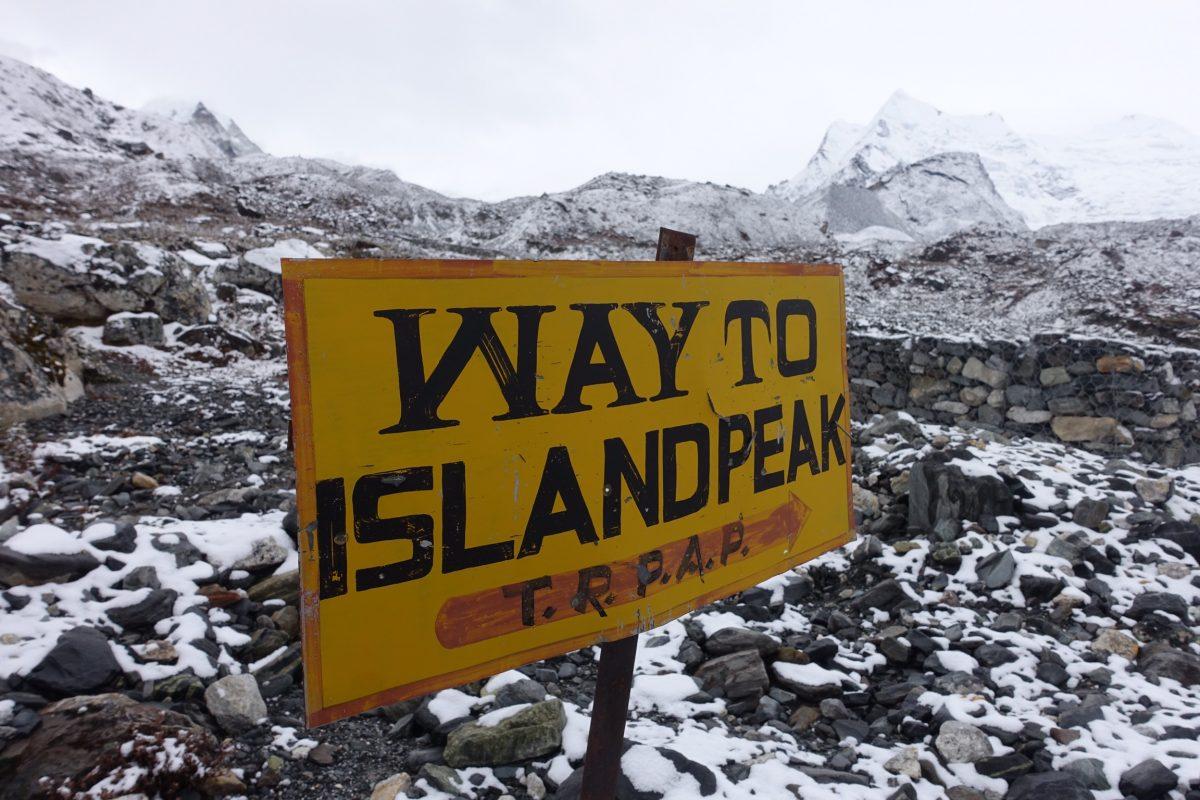 Auf einer Insel im Himalaya